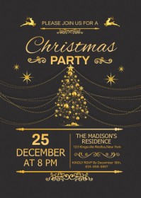 Christmas Party Flyer A6 template