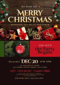 Christmas Party Flyer A4 template