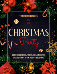Christmas Party Flyer ใบปลิว (US Letter) template