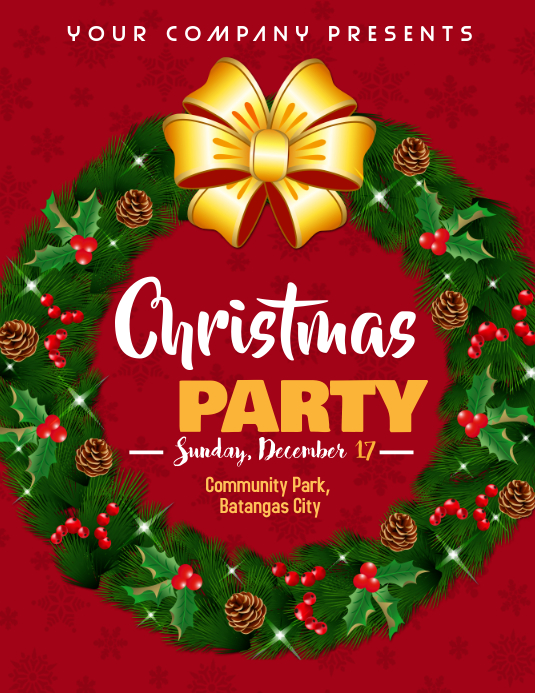 Christmas Party Flyer (Letter pang-US) template