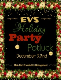 Christmas Party Flyer (US Letter) template
