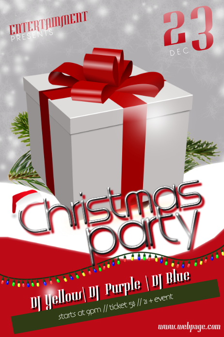 Christmas Party Gift Flyer Template