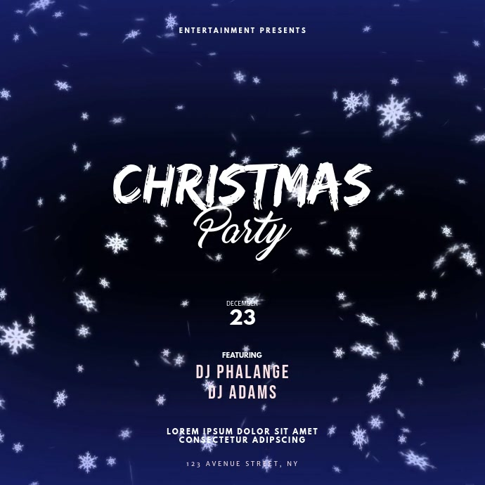 Christmas Party Instagram Design Template