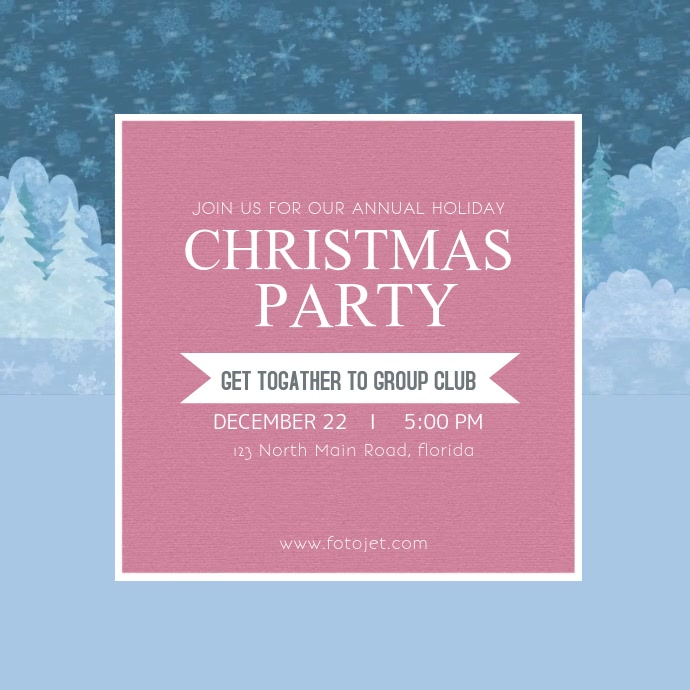 Christmas Party Instagram Video Template Persegi (1:1)