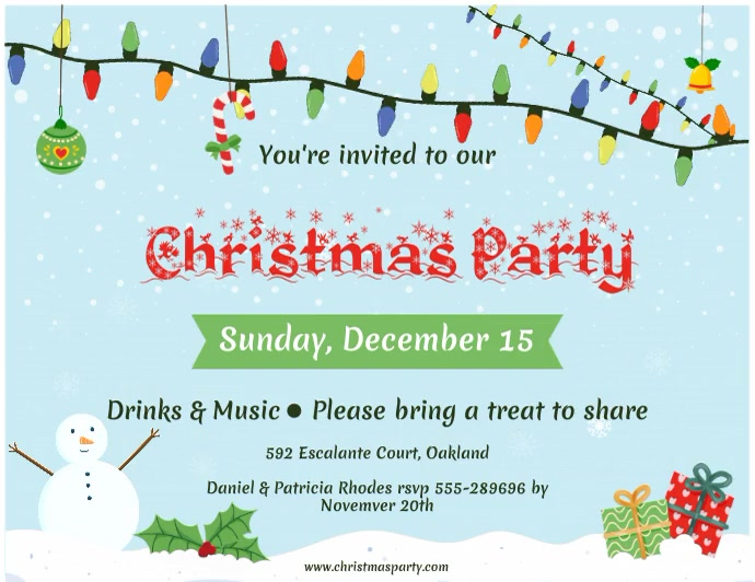 Christmas Party Invitation Banner Flyer (US Letter) template