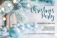 Christmas Party Invitation 标签 template