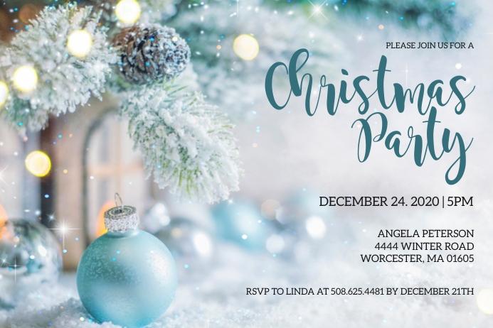 Christmas Party Invitation Etiket template