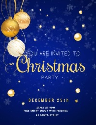 CHRISTMAS PARTY INVITATION Flyer (US Letter) template