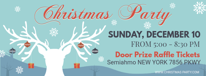 Christmas Party Invitation Facebook Banner Facebook-Cover template