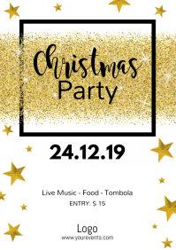 Christmas Party Invitation Flyer Poster Event A4 template
