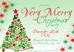 Christmas Party Invitation Postcard