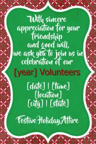 christmas party invitation volunteer dinner dance Plakkaat template
