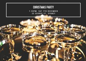 Christmas Party Invite Открытка template