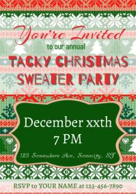 Christmas Party Invite A5 template