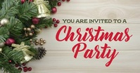 Christmas party invite Facebook Shared Image template
