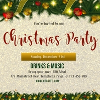 christmas party invite template Isikwele (1:1)