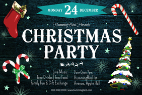 Christmas Party Landscape Poster