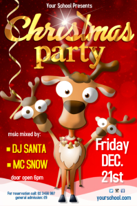 Christmas party Leaflet 海报 template