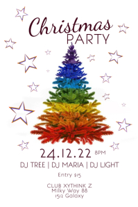 Christmas Party Lgbtq Pride Rainbow Tree Ad
