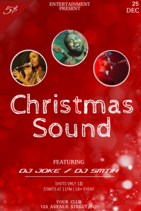 Christmas party night flyer template