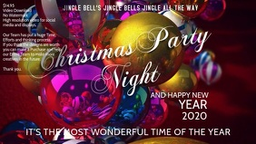 christmas party night poster template