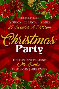 free christmas party poster template koni polycode co