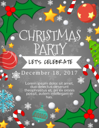 Elegant Christmas Party Flyer Within Christmas Poster Template