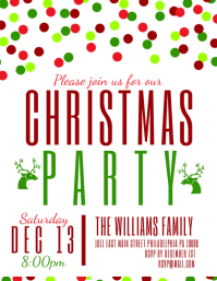 Christmas Party  Christmas Card Letter Templates
