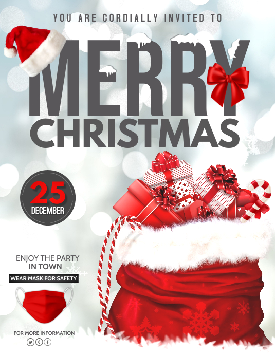 Christmas Party Flyer.Christmas Party Flyer Template Postermywall