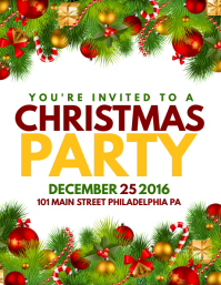 Marvelous Christmas Party Intended For Christmas Poster Template