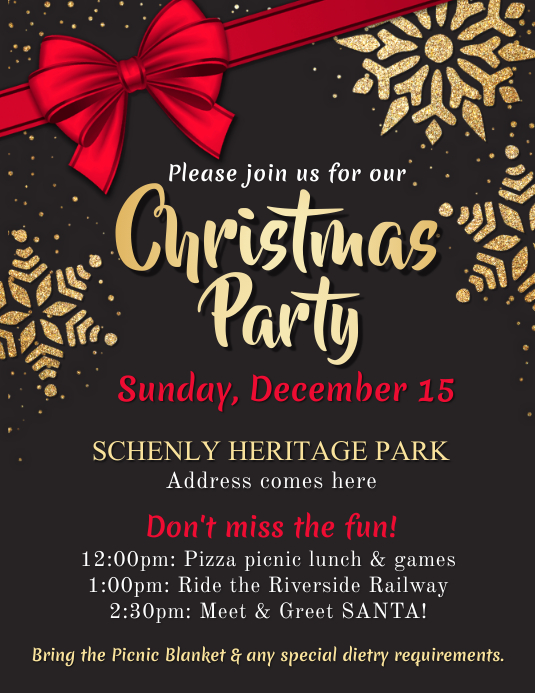 Christmas Party Flyer Template Рекламная листовка (US Letter)