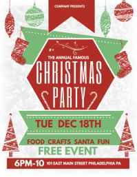 christmas party posters template