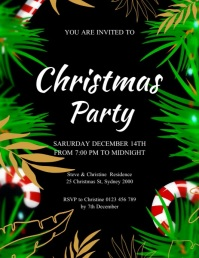 Christmas party poster video