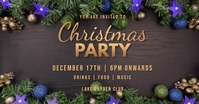 christmas party template Facebook 活动封面
