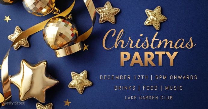 christmas party template Portada de evento de Facebook