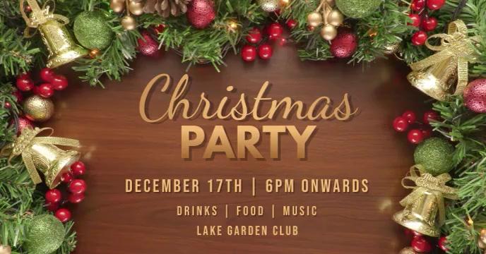 christmas party template Sampul Acara Facebook