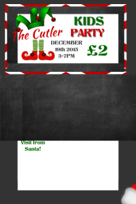 Christmas Party Ticket · Concert Pass Template  Party Ticket Template