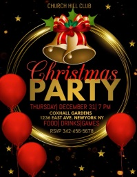 christmas party video template Ulotka (US Letter)