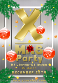 Christmas party x-mas flyer template