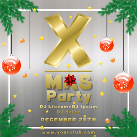 Christmas party x-mas insta event flyer templ