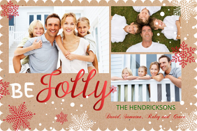 Christmas Cards Design Templates PosterMyWall - Card template free: photo insert christmas cards