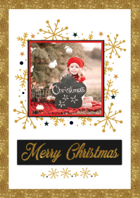 Christmas Photo Greeting Card A6 template