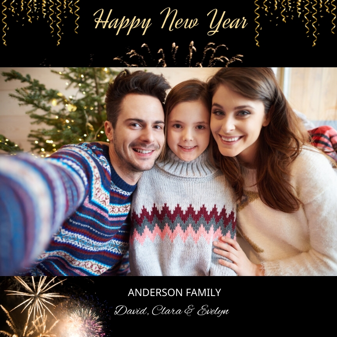 Christmas Photo Greeting card Instagram Post template