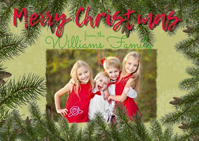 Christmas Photo Postcard Cartolina template