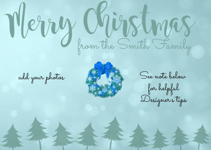 Christmas Photo Postcard 明信片 template