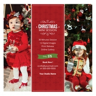 Christmas Photography Mini Session Quadrato (1:1) template