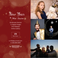 Christmas Photography Mini Session Square (1:1) template
