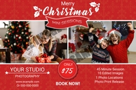 Christmas Photography Mini Session Etiket template