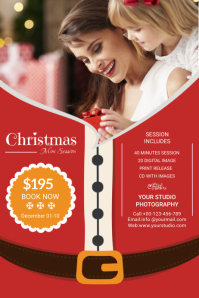 Christmas Photography Minission Etiket template