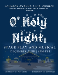 Church Christmas Play Flyer (US Letter) template